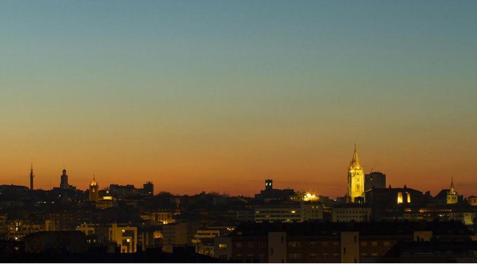 Vista de la contaminación en Oviedo.Vista de la contaminación en Oviedo
