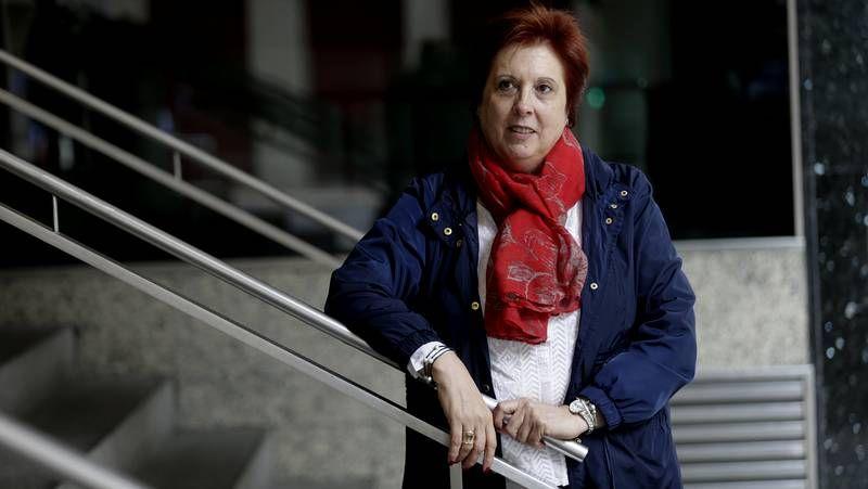 Protesta de jubilados de UGT.María del Carmen Martínez, presidenta de la asociación del Alzhéimer