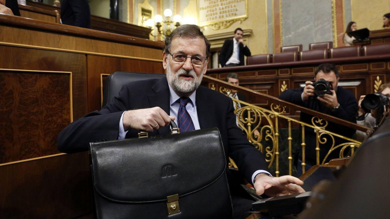 La moción de censura contra Rajoy, en imágenes.El fotomontaje
