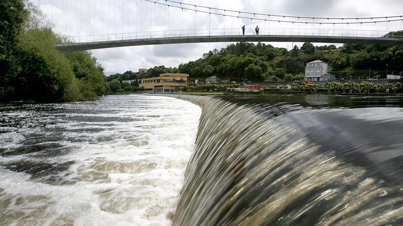 El tramo urbano del Miño en Lugo, en una imagen del 2011