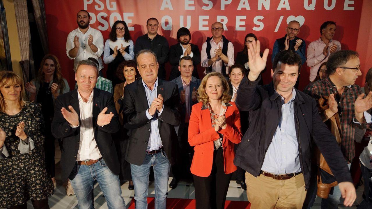 Manuel de la Rocha (PSOE), Daniel Lacalle (PP), Luis Garicano (C´s), Nacho Álvarez (UP) y Rubén Manso (Vox)