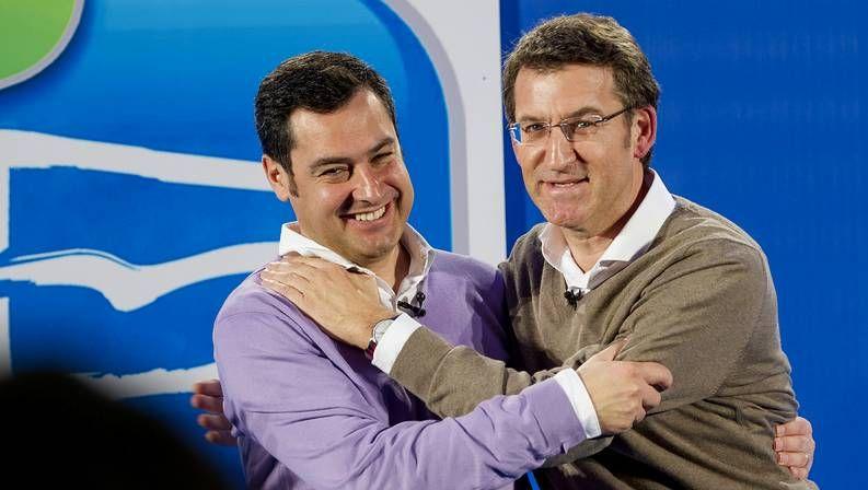 .Mariano Rajoy (derecha), junto al nuevo líder del PP de Andalucía, Juan Manuel Moreno.