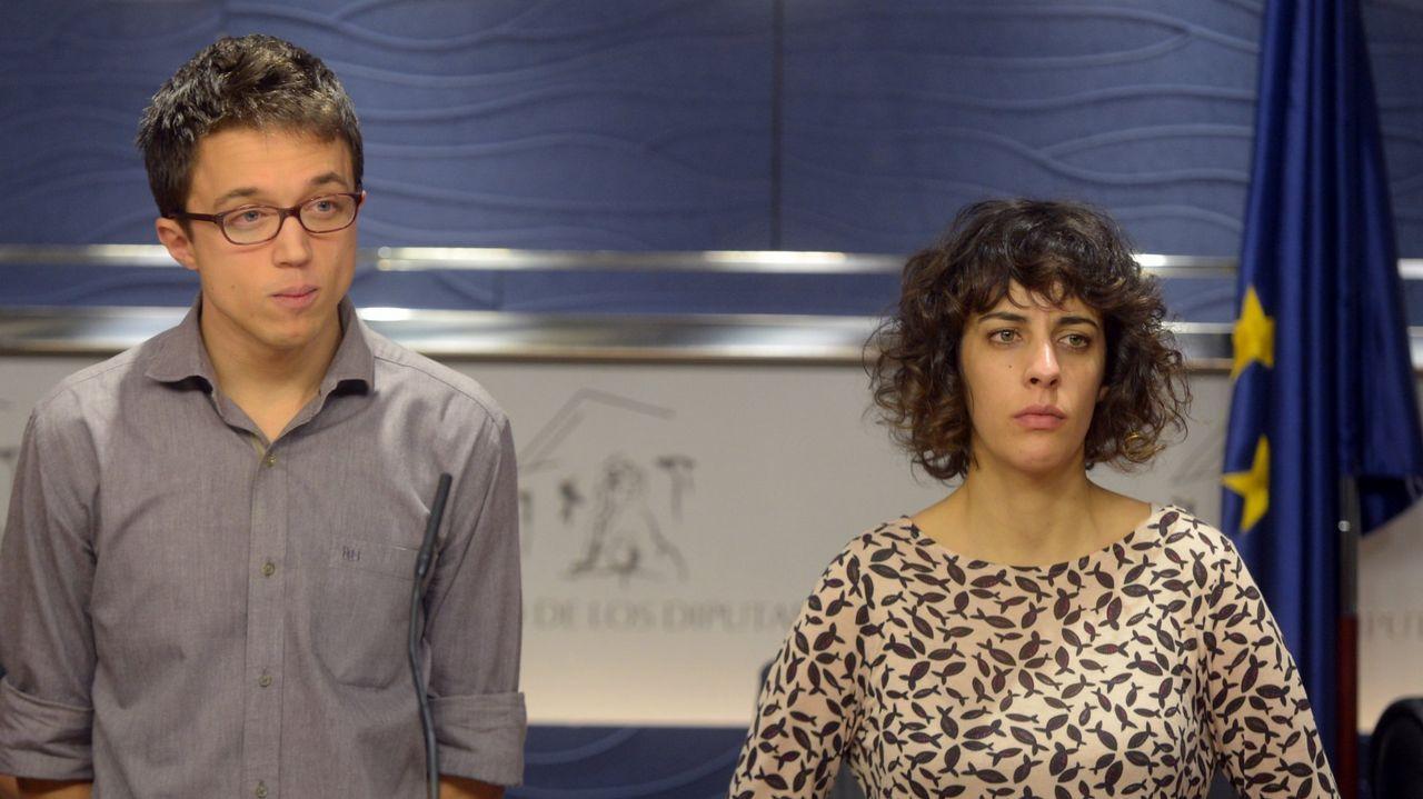 Carolina Bescansa y Carmen Santos, en una foto de archivo