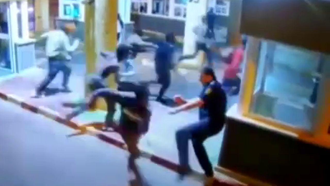 Polémica actuación de la Policíaen el Tarajal.