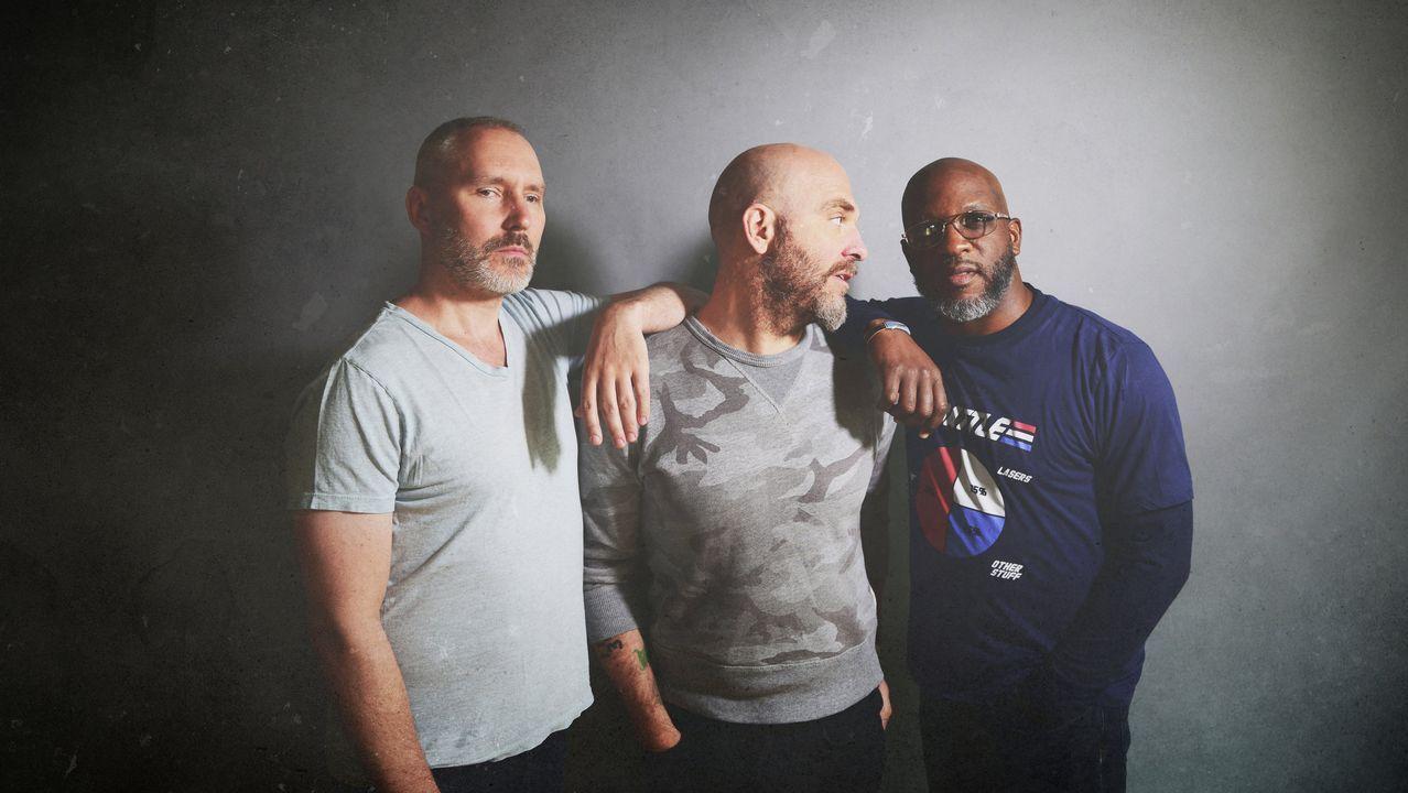 El trío estadounidense de jazz The Bad Pus (Reid Anderson, Dave King y Orrin Evans)