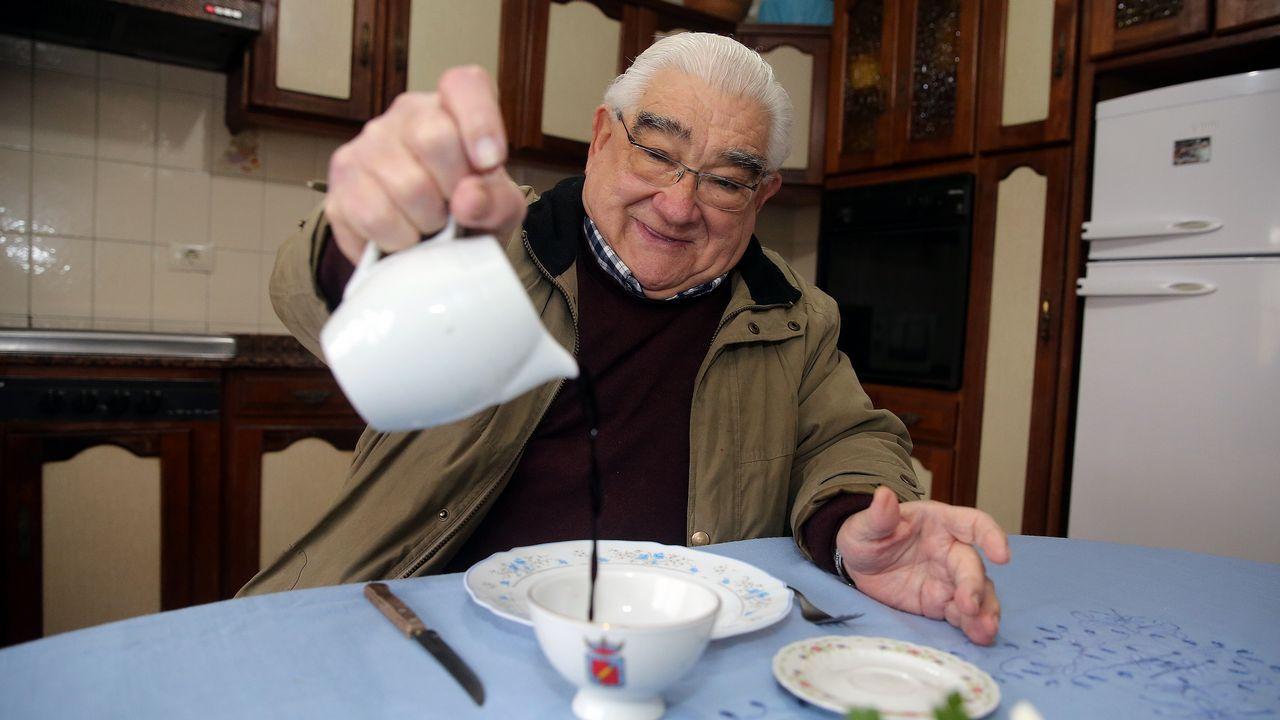 Sergio Primiani, uno de los promotores de la Asociación de Pensionados y Pensionadas de Venezuela residentes en Asturias.Pastor del Cáucaso