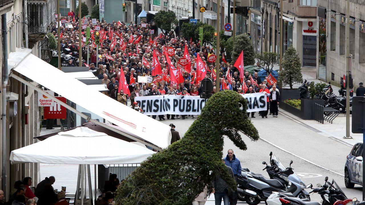.Vigo. Las protestas mas multitudinarias de Galicia fueron las que recorrieron las calles de la ciudad olívica.