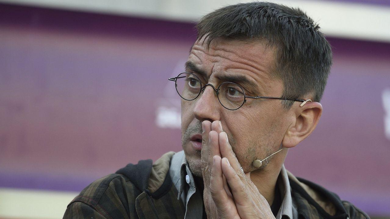 Torra retira la pancarta de la Generalitat.Fotografía de archivo del exseleccionador nacional de baloncesto Pepu Hernández