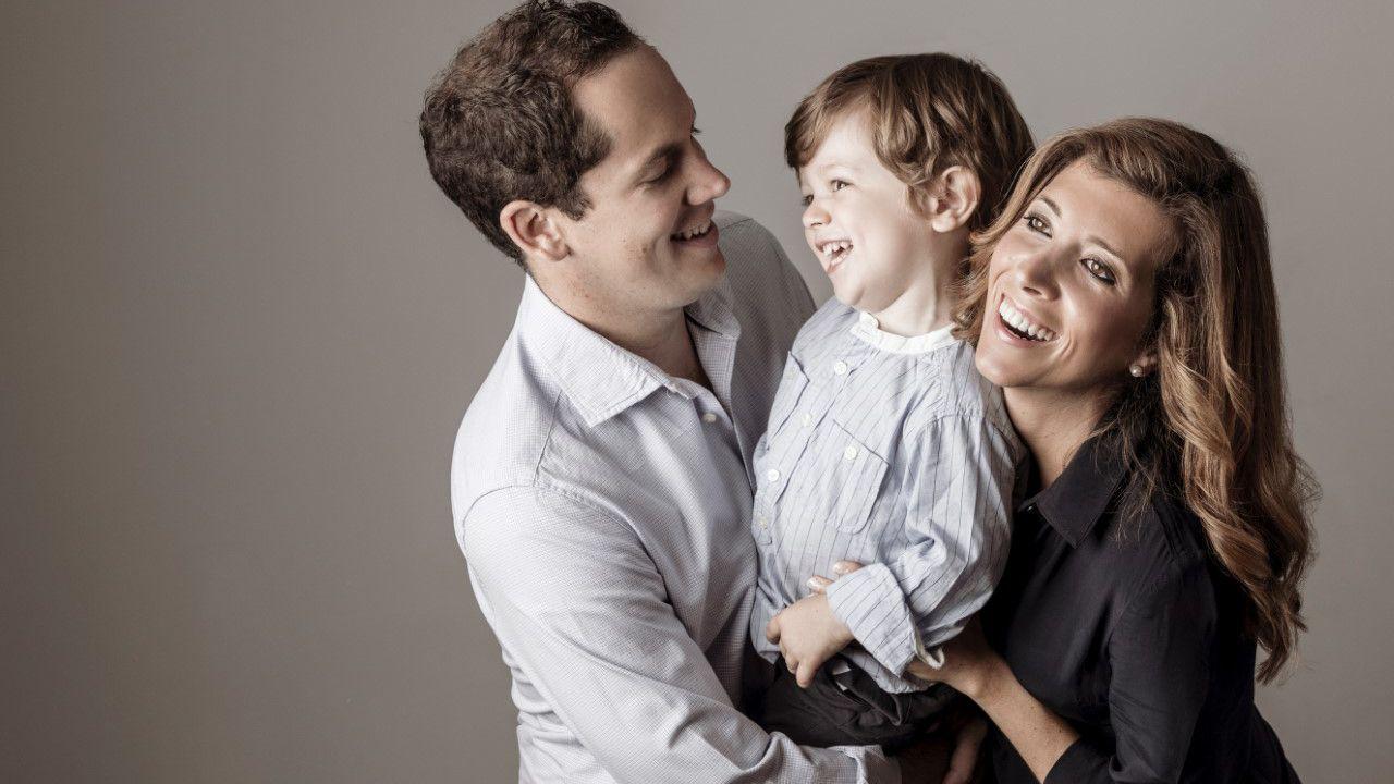Paloma Martín-Maestro García junto a su familia