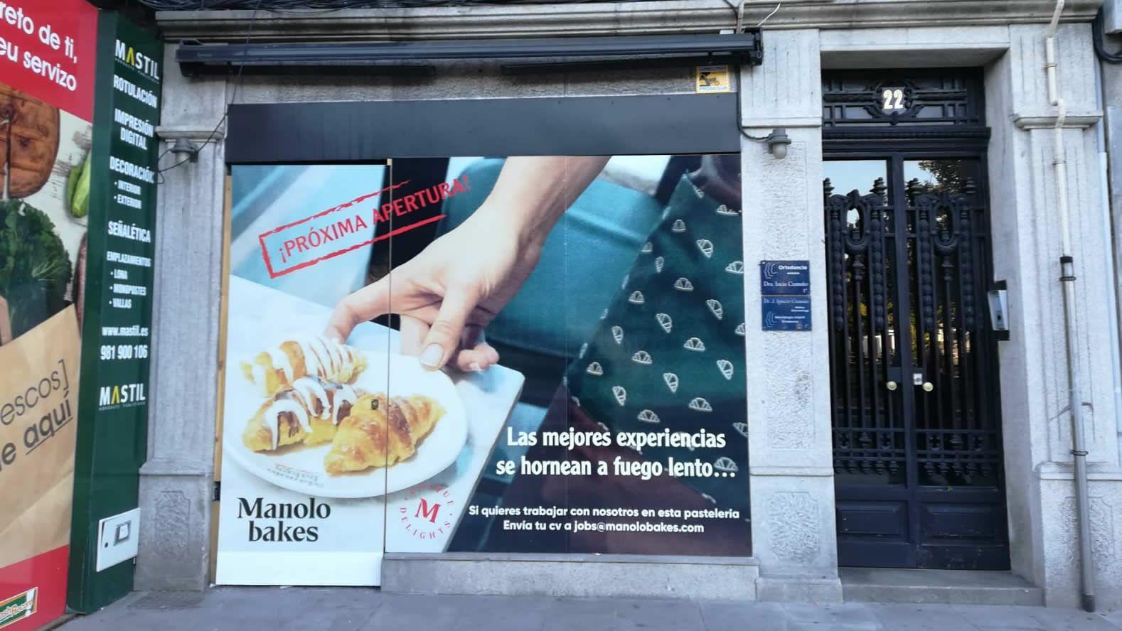 Fachada del futuro local coruñés
