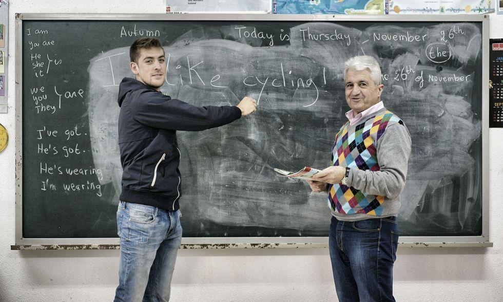 .Pablo aproveita nas competicións internacionais o inglés que aprendeu con José Antonio.