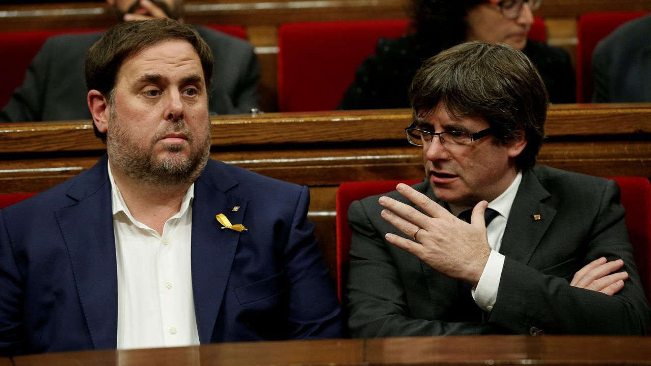 .Puigdemont y Junqueras, en una imagen de archivo