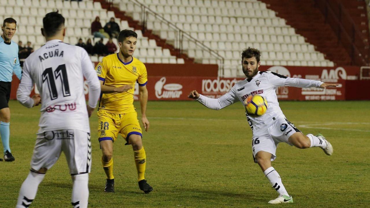 Erice Albacete Real Oviedo.Erice, justo antes de anotar su gol frente al Alcorcon