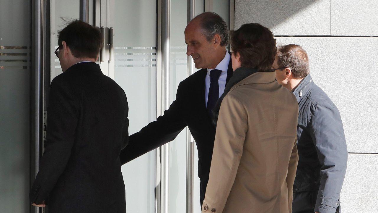 . El expresidente de la Generalitat valenciana Francisco Camps, a su llegada para comparecer como testigo en el juicio de Gürtel