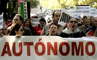 .Manifestación de autónomos en Madrid.