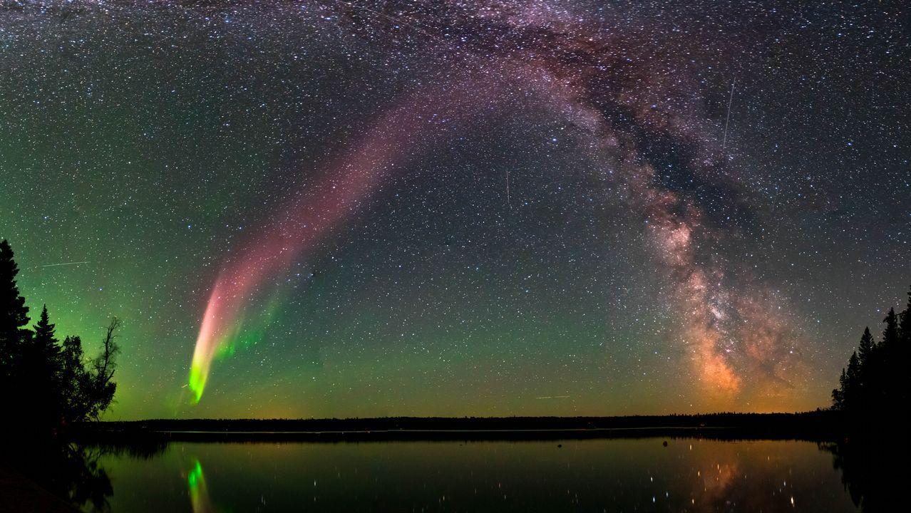 Auroras boreales en el cielo de Galicia.