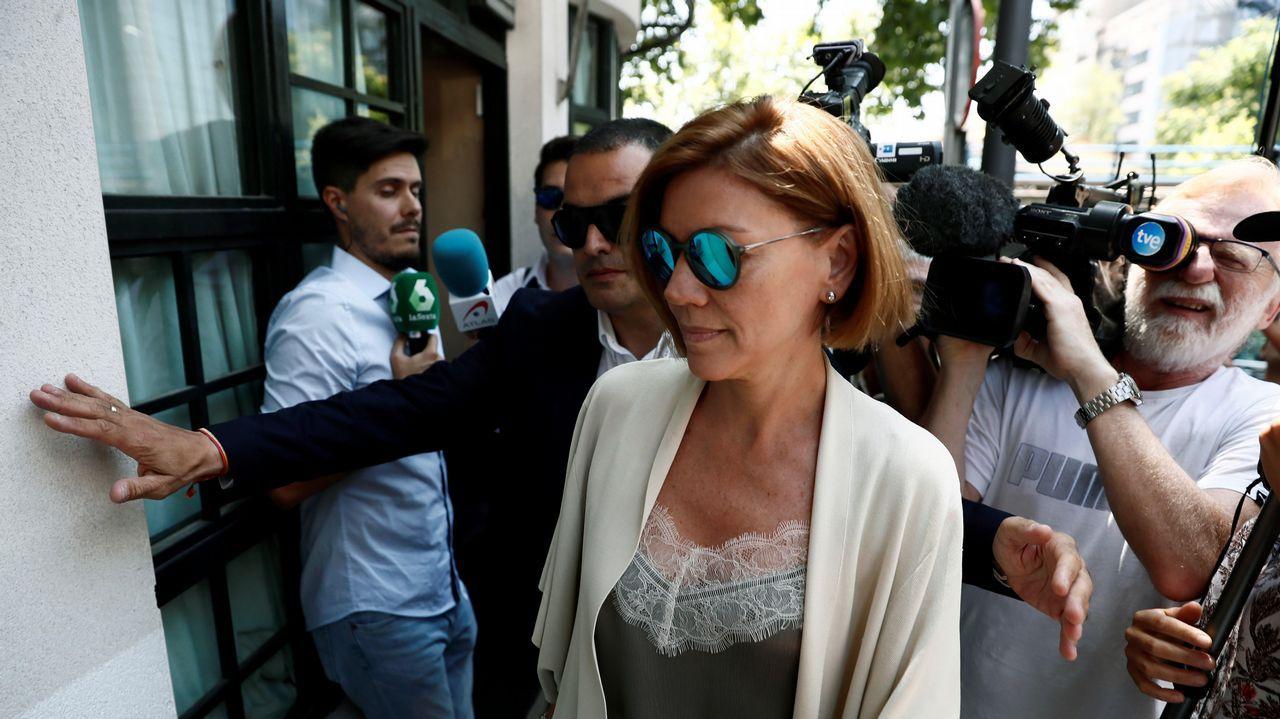 .María Dolores de Cospedal ya mostró en público su apoyo al candidato Casado