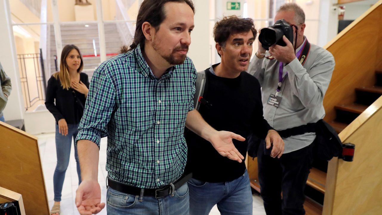 Iglesias: «En cada lugar al que llegaba durante la campaña tenía que preguntar '¿Cómo nos llamamos aquí?'».La candidata de Vox a la Asamblea de Madrid, Rocío Monasterio