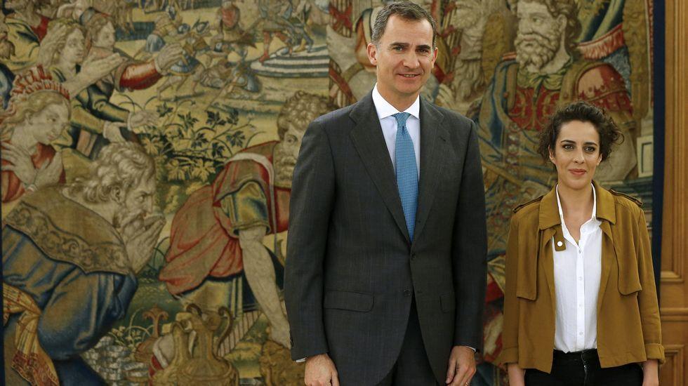 El rey Felipe VI recibe a Alexandra Fernández, de En Marea.