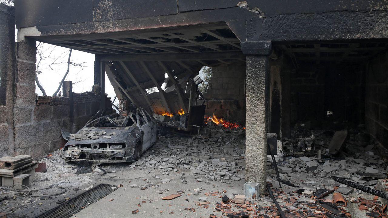 Infierno en Melón: recogiendo los escombros de una vida