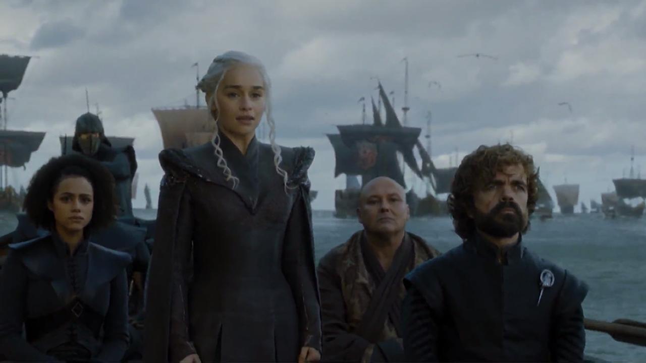 Missandei, Daenerys, Varys y Tyrion en el episodio 7x01 de Juego de Tronos