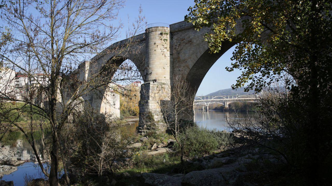 El puente romano de Ourense en una imagen tomada esta semana