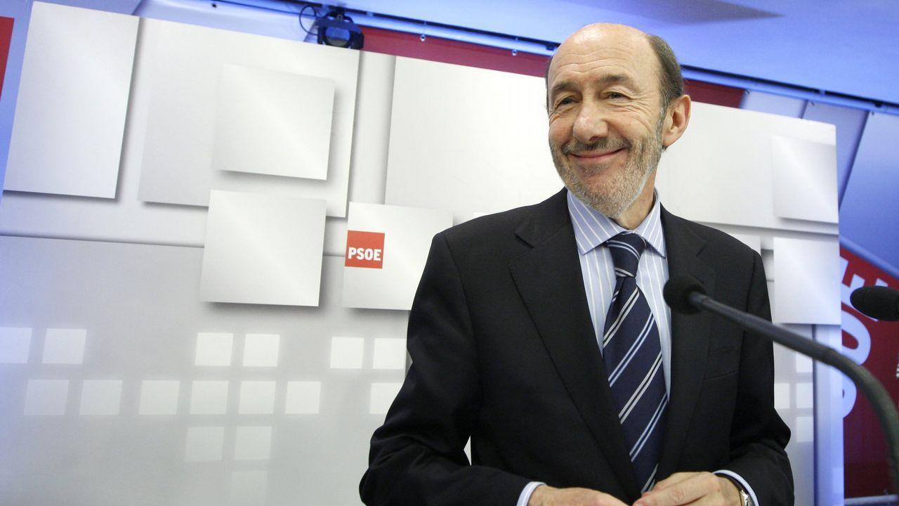 En mayo del 2011 como candidato a las primarias del PSOE