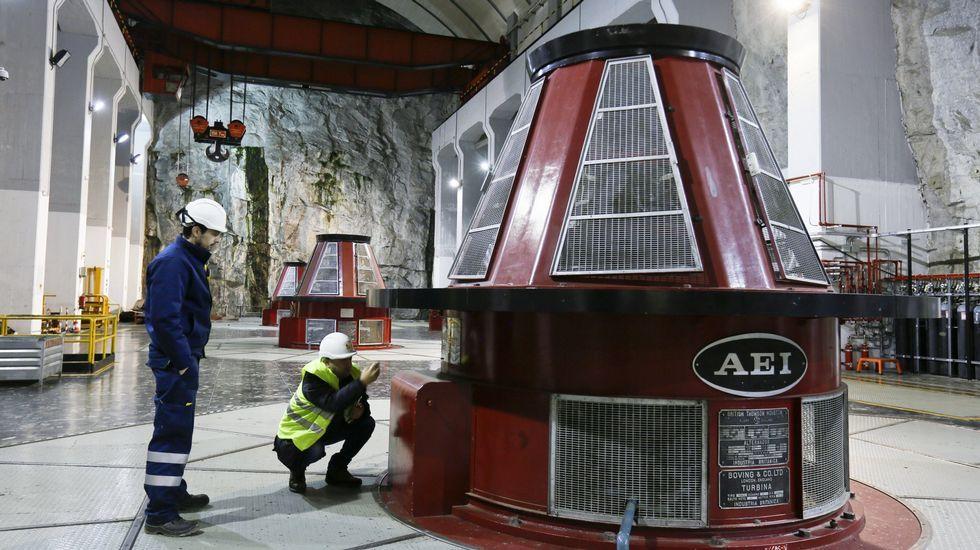 .Bóveda de acceso a las turbinas de la central hidroeléctrica del embalse de Belesar, situada en el concello de Chantada (Lugo), en el río Miño
