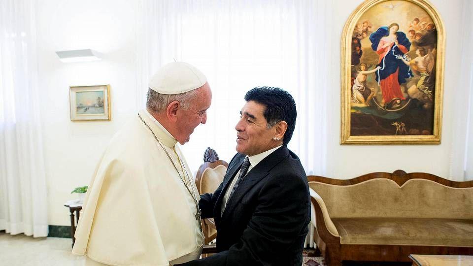 .Maradona, con el papa la semana pasada