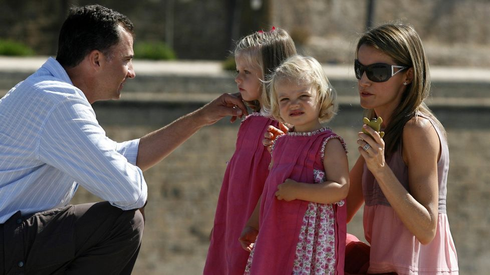 .En el 2009, de vacaciones en Mallorca.