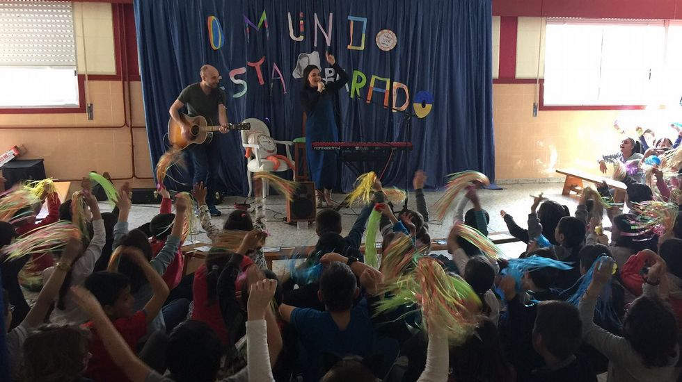 Guadi Galego actuando en el Salgado Torres