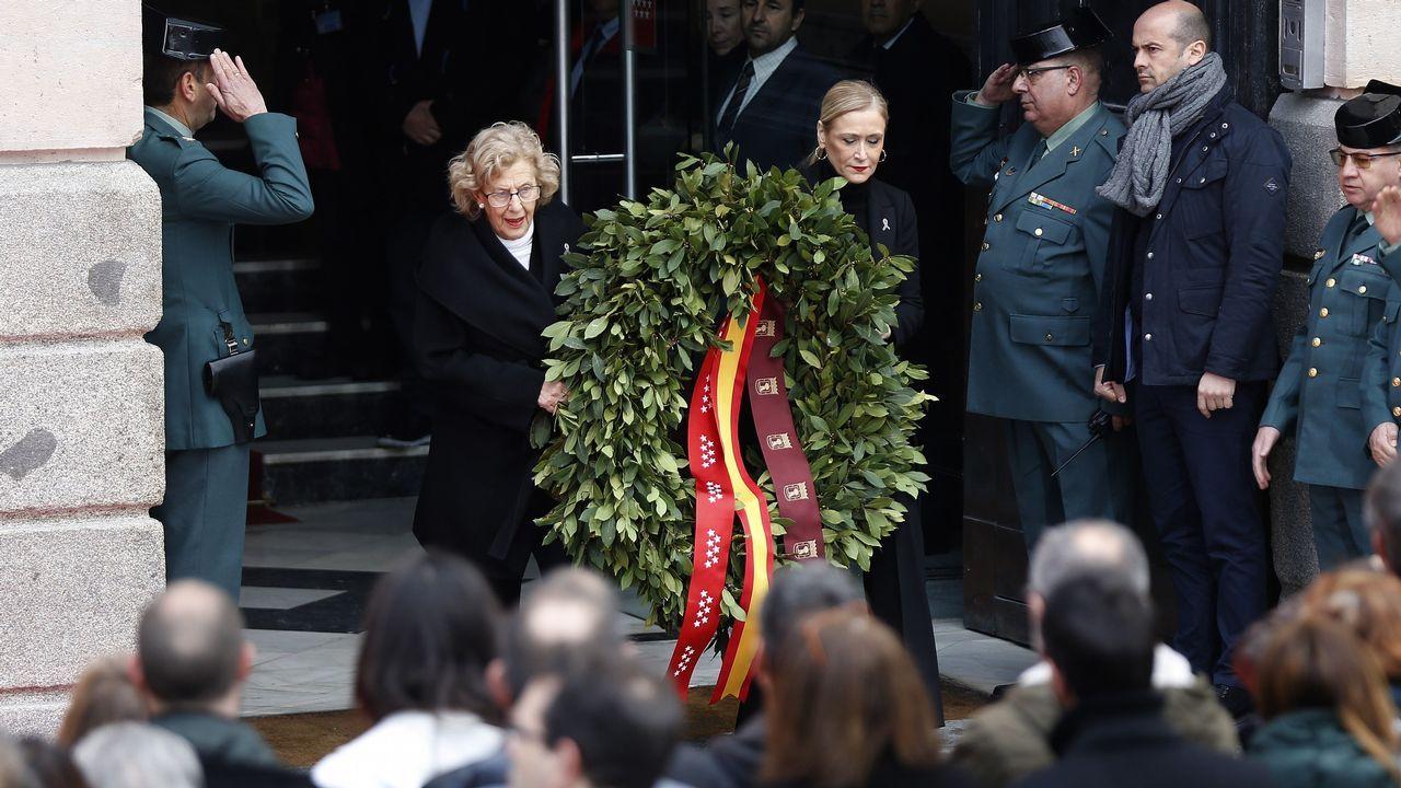 Cifuentes: «Mi master es real y legal».Actos en memoria de las victimas del 11-M en Madrid