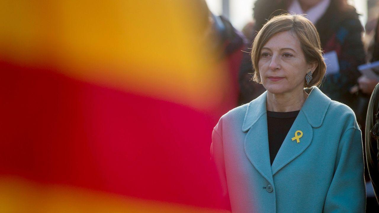 Forcadell pide al rey que «se respeten las decisiones de los catalanes que se expresaron en las urnas».