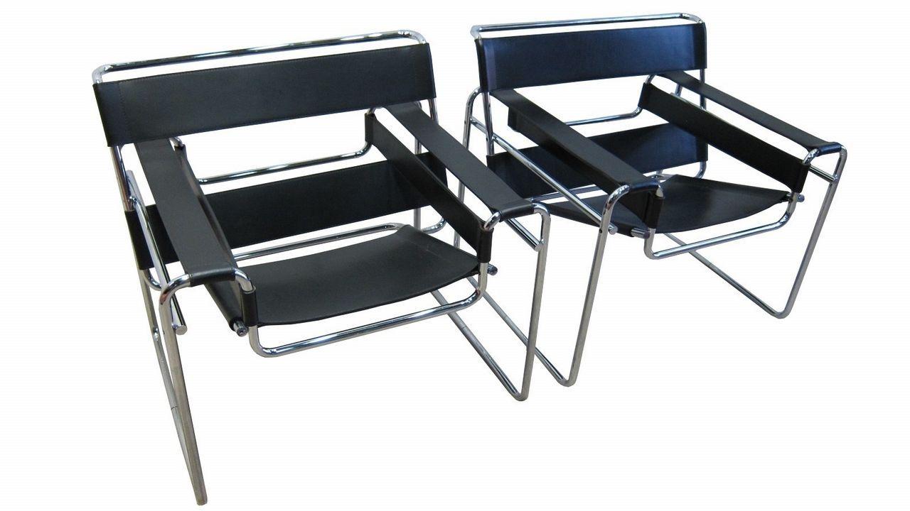 La silla Wassily, diseñada por Breuer, es un icono de la Bauhaus y del siglo XX