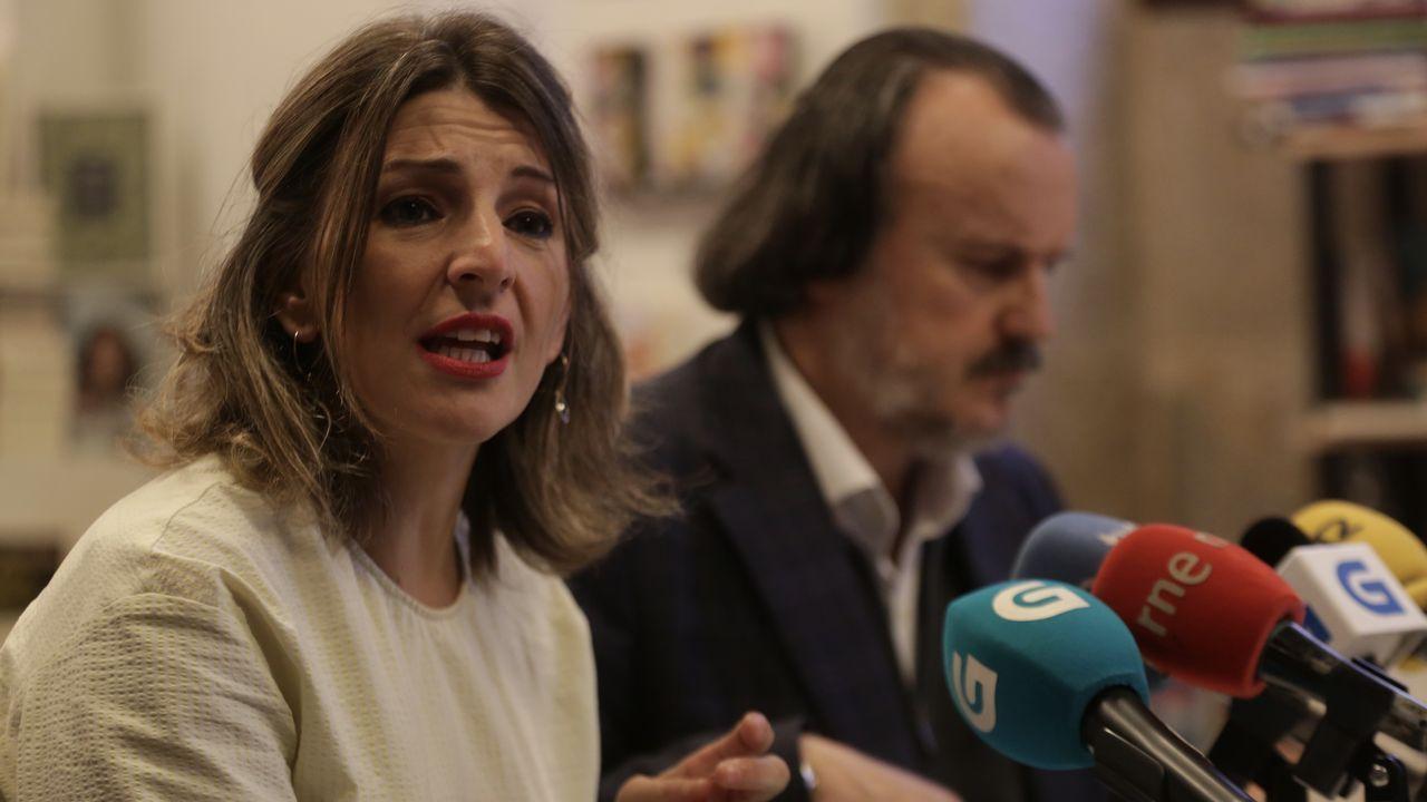 El poder institucional de En Marea.Rueda de prensa de Núñez Feijoo tras el Consello de la Xunta