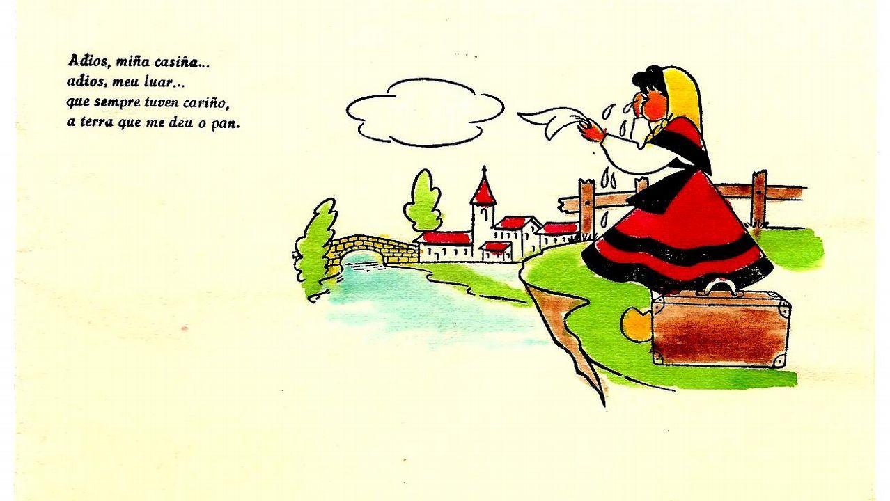 .Ilustración sobre la emigración