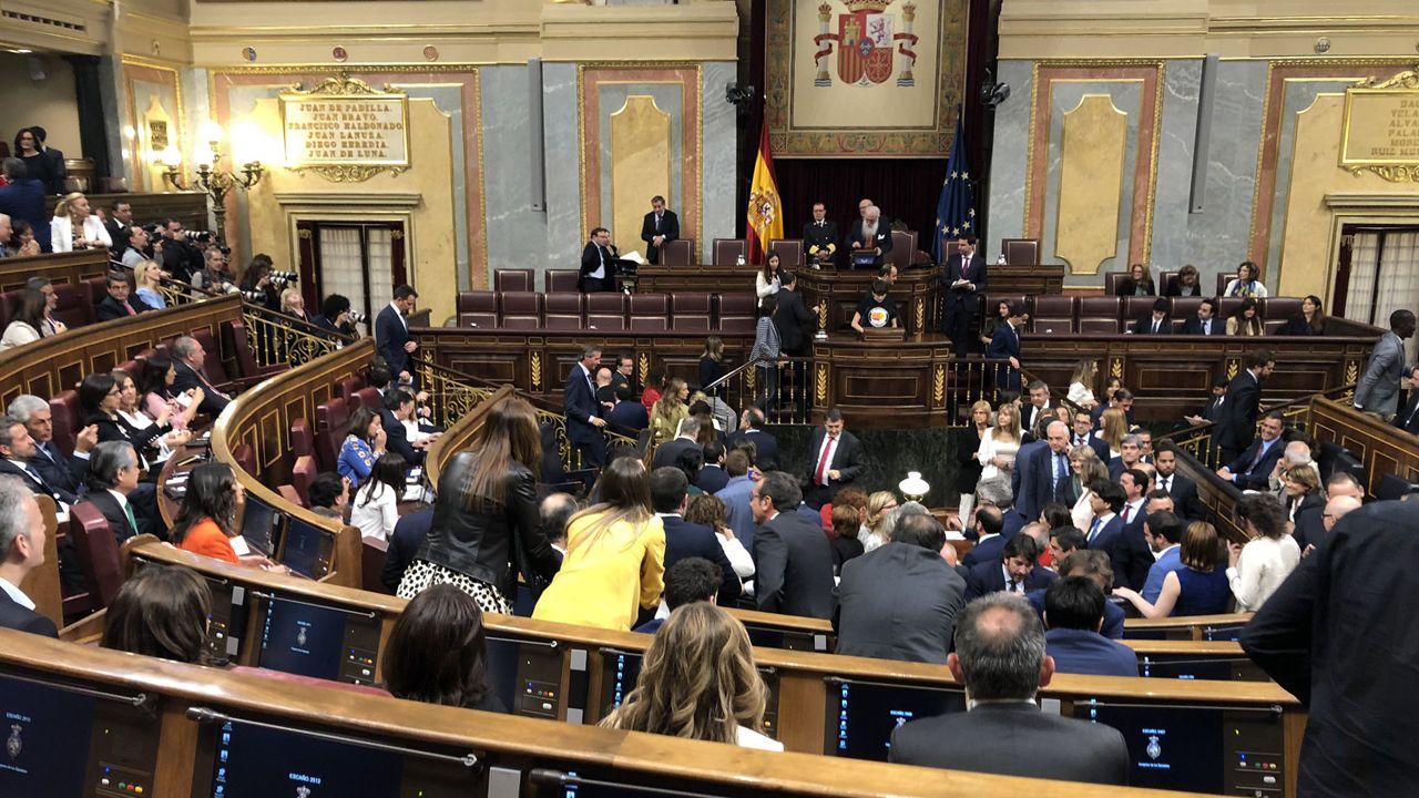 Imagen del hemiciclo tomada por el diputado asturiano y vicepresidente cuarto del Congreso, Ignacio Prendes