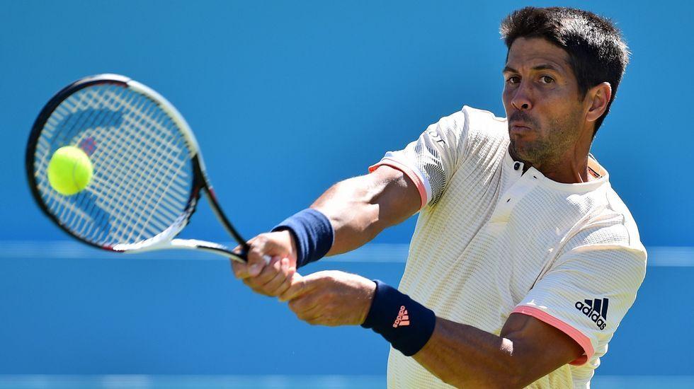 Nadal: «Wimbledon es el torneo al que acudo con menos preparación».Pablo Carreño celebra un punto