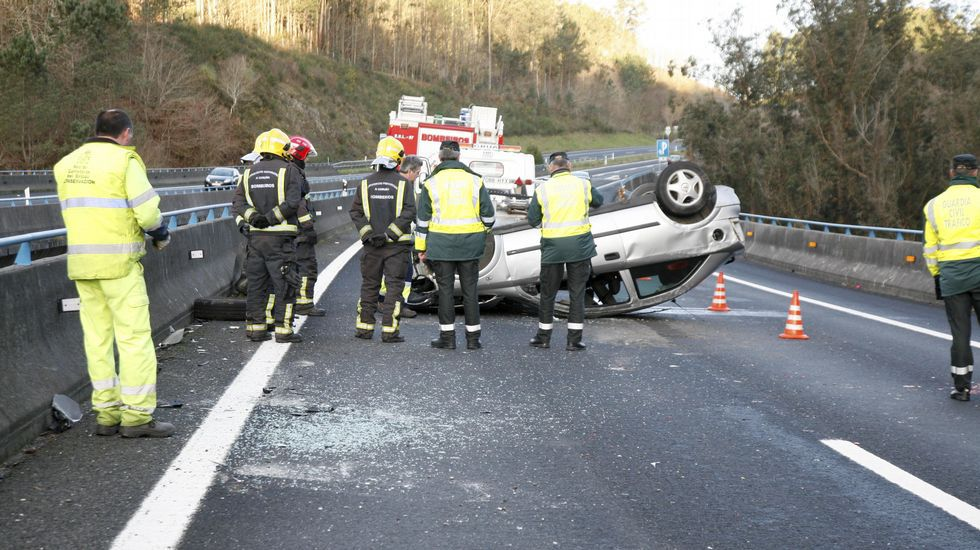 .ACCIDENTE EN LA A6 COIROS