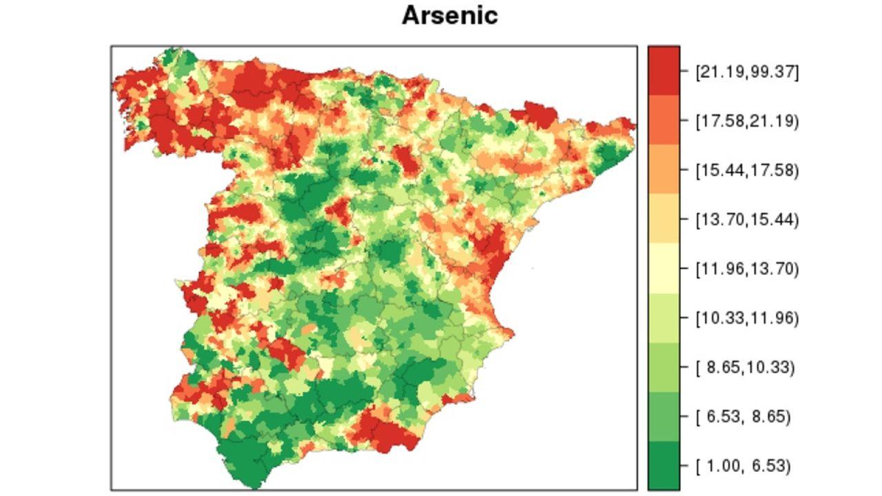 Distribución del arsénico en España