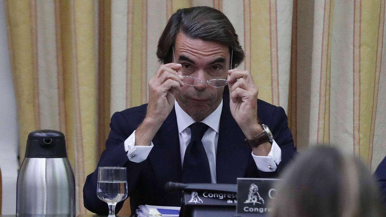Los momentos más tensos entre Aznar, Rufián y Simancas
