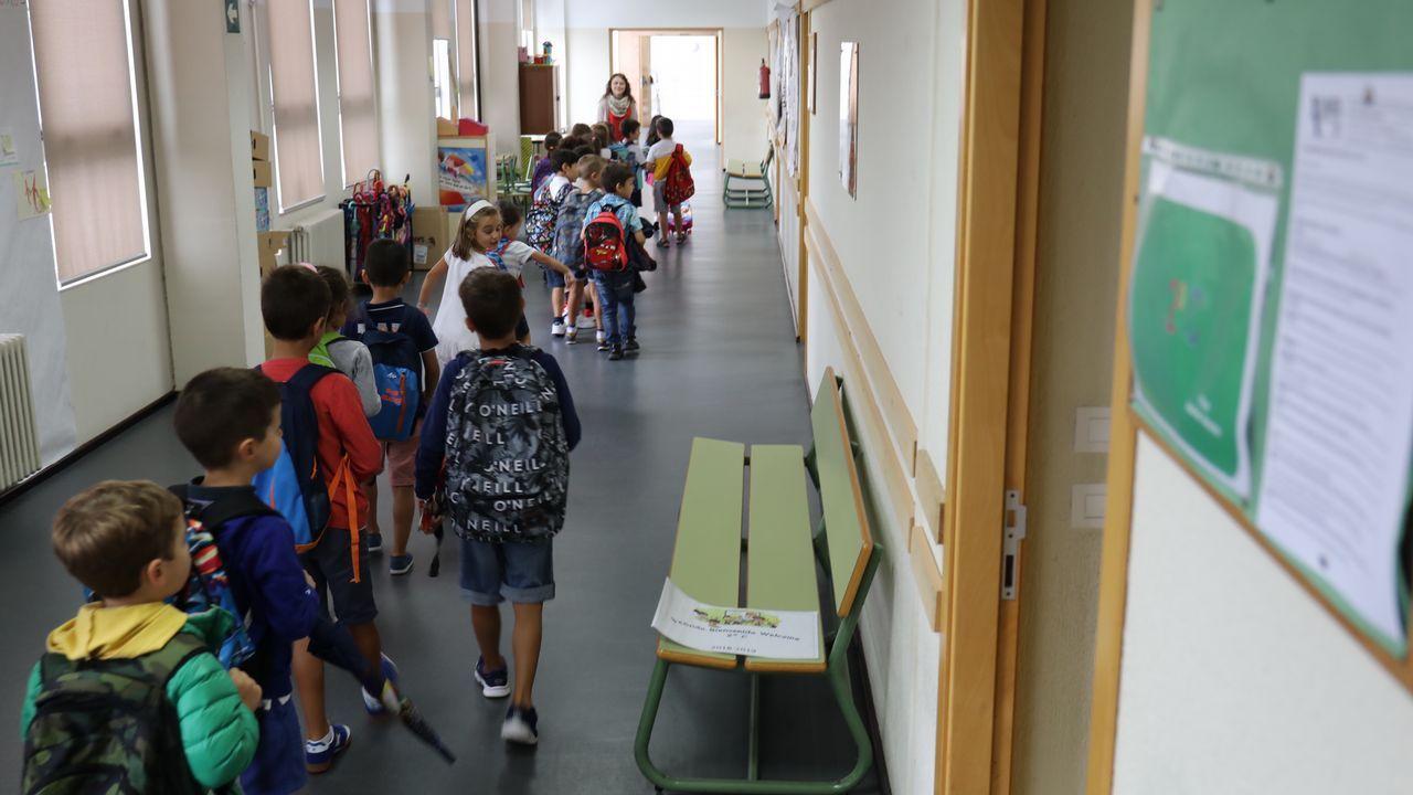 Inicio del Curso escolar en el colegio López Ferreiro de Santiago.