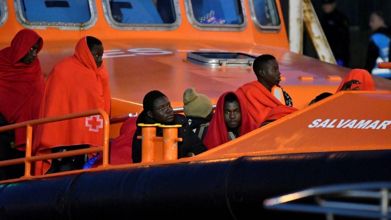 | EFE.Imagen de archivo de inmigrantes rescatados por Salvamento Marítimo en el mar de Alborán