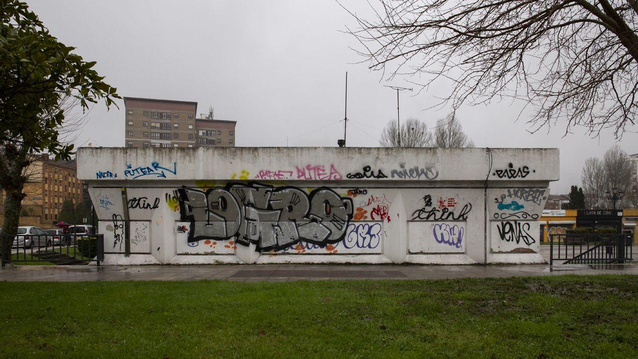 Un graffiti en Otero
