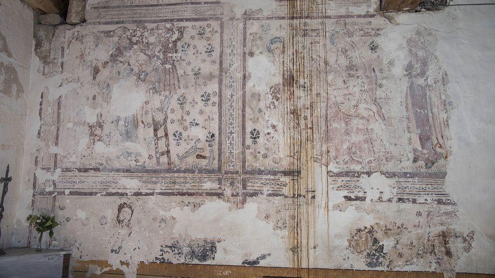 Pinturas murales en la iglesia de Pinol