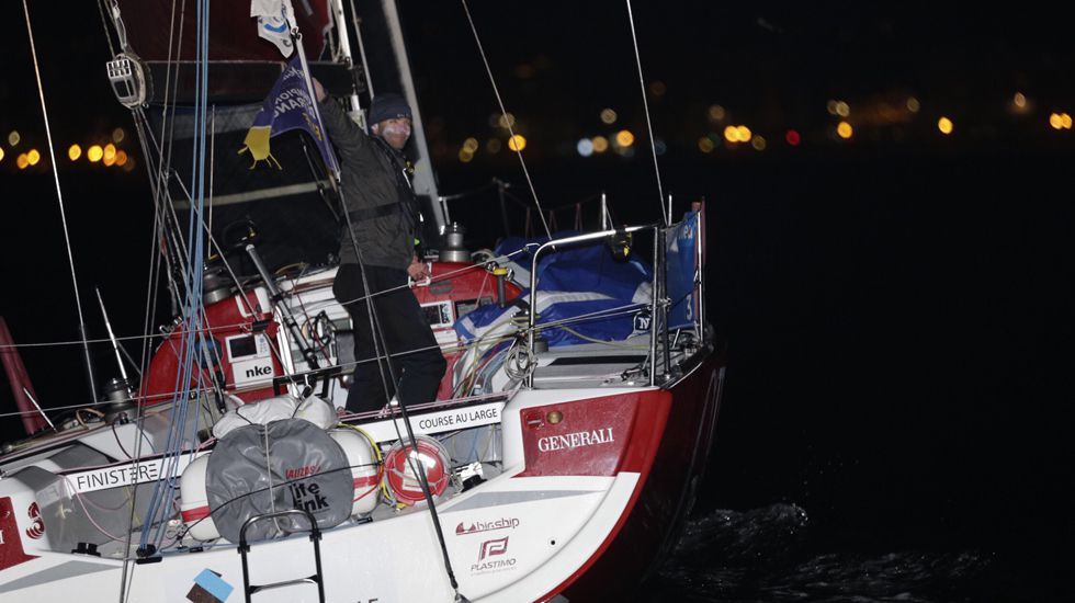 Concentración Motera Asturfénix, en Gijón.Adrien Lunven, a su llegada al Puerto Deportivo de Gijón