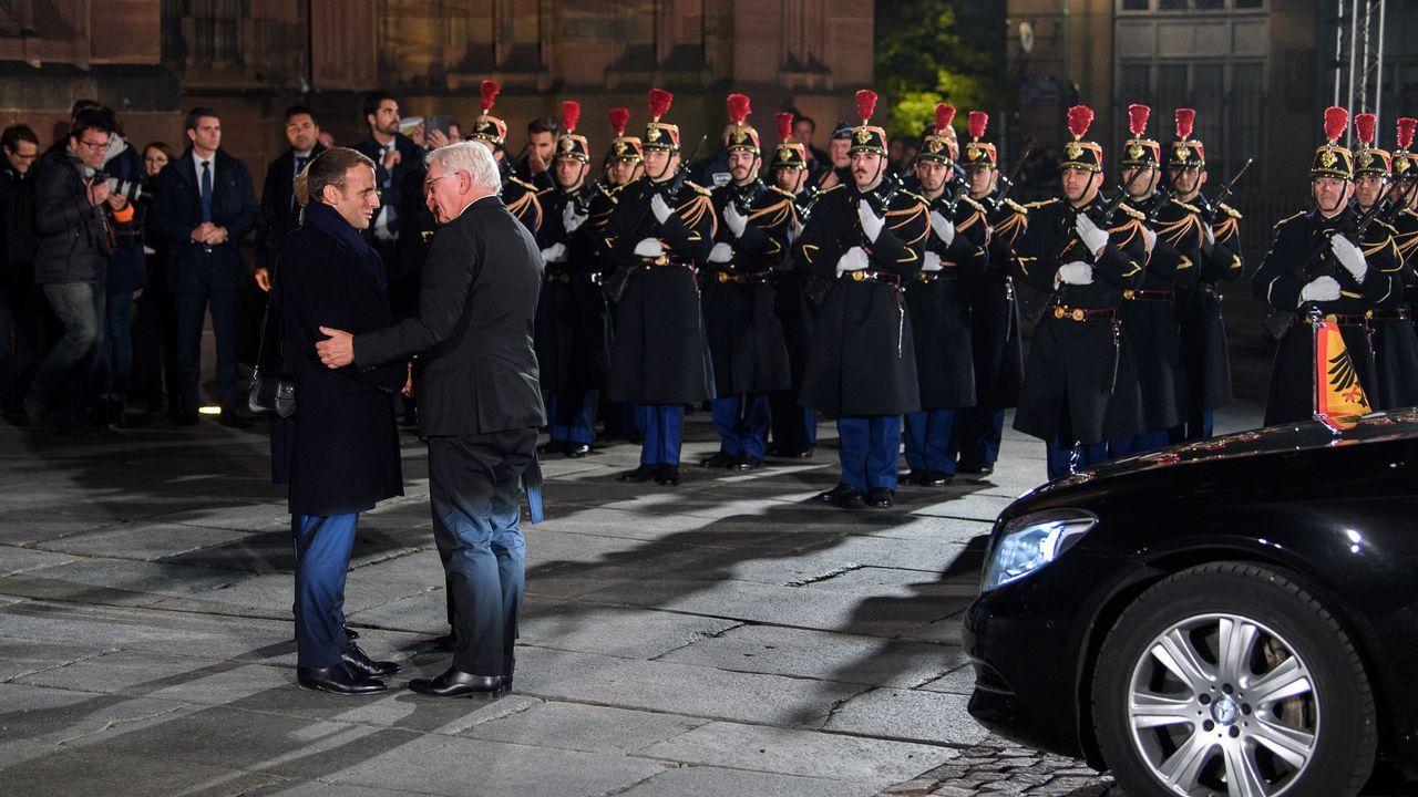 Trump arremete contra el ejército europeo propuesto por Macron: «Es insultante».Macron, que ayer visitó Douamont, cerca de Verdún, evitó referirse al atentado