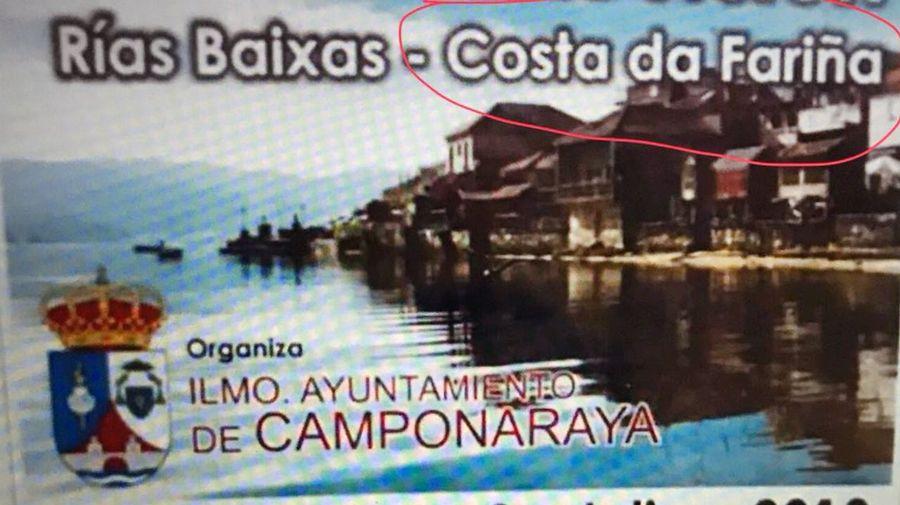 Bochorno por el anuncio de un viaje a las rías Baixas como «Costa da Fariña»