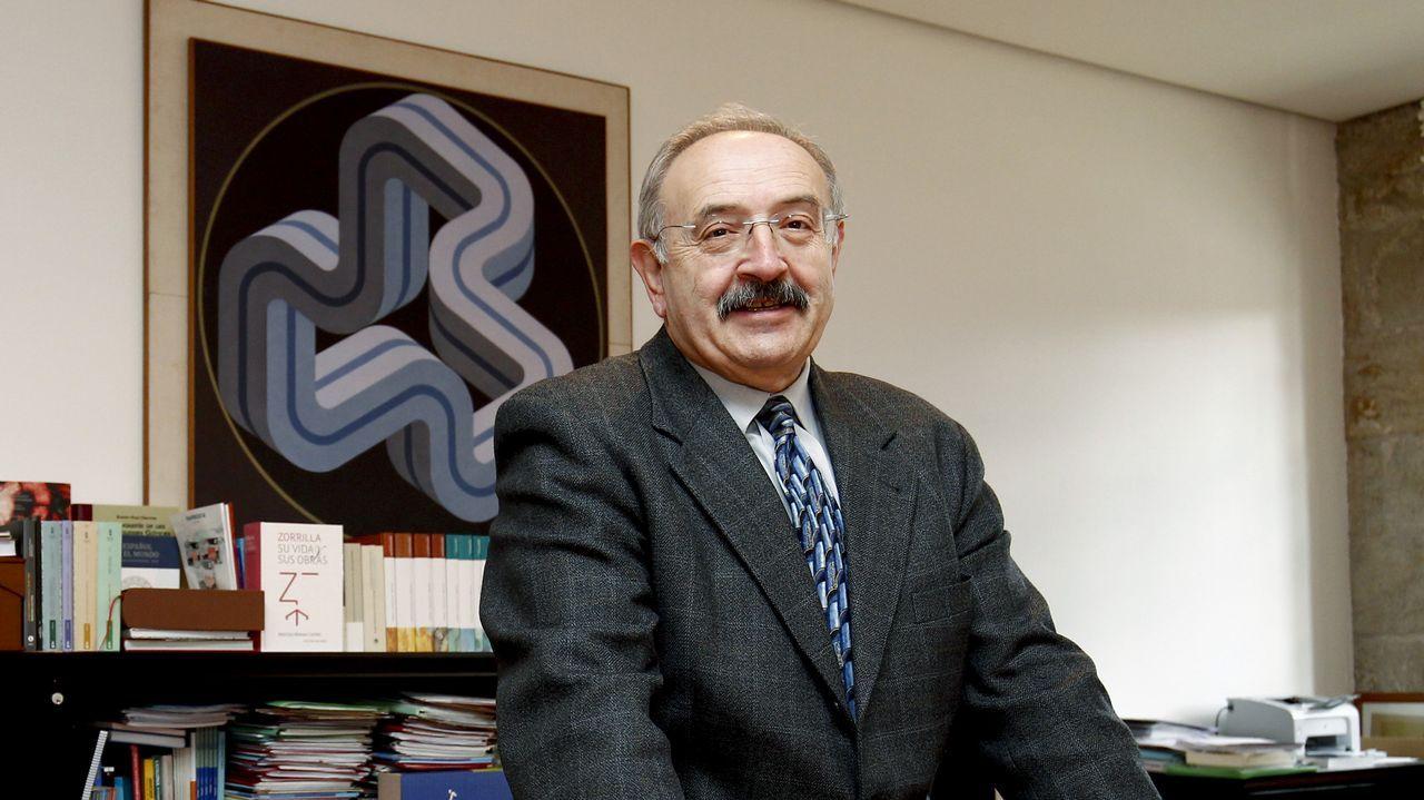 Ramón Villares, no seu despacho no Consello da Cultura Galega en Santiago