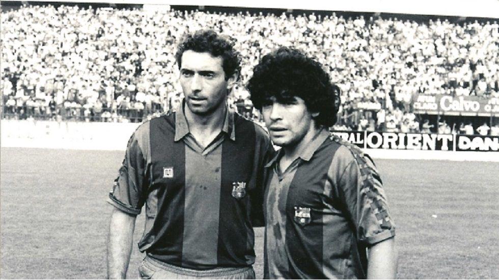 Quini y Maradona
